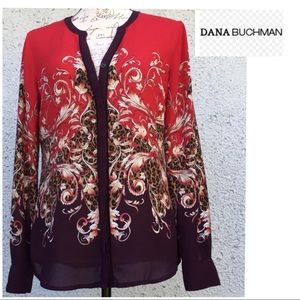 "Dana Buchanan ""Baroque"" print button down Blouse"